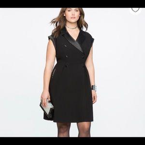 Eloquii 14 NWT black tuxedo dress gorgeous